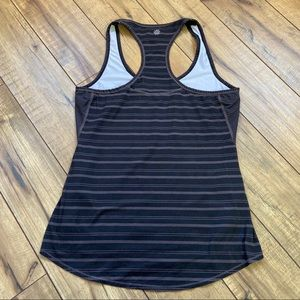 Athleta chi striped brown racer back tank Small